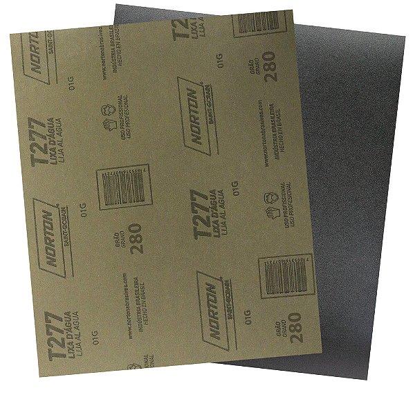 Folha de Lixa D'Água NorClass T277 Grão 280 230 x 280 mm Pacote com 200