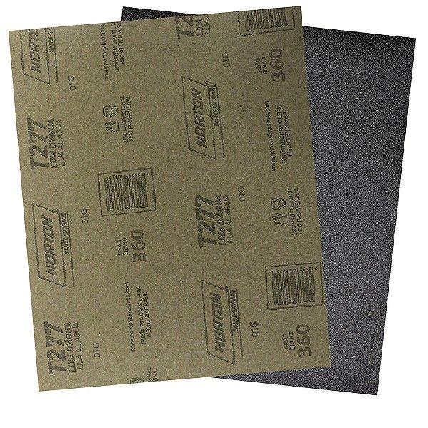 Pacote com 200 Folha de Lixa D'Água NorClass T277 Grão 360 230 x 280 mm