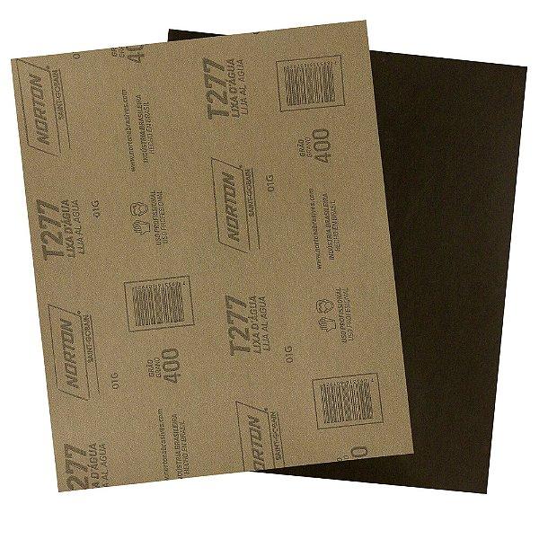 Folha de Lixa D'Água NorClass T277 Grão 400 230 x 280 mm Pacote com 200