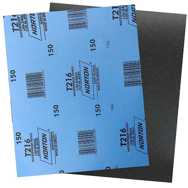 Pacote com 200 Folha de Lixa D'Água Norflex T216 Grão 150 230 x 280 mm