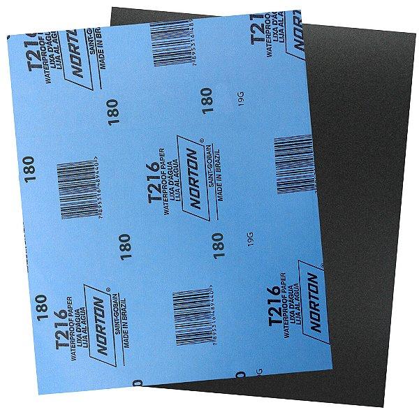 Pacote com 200 Folha de Lixa D'Água Norflex T216 Grão 180 230 x 280 mm