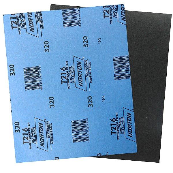 Pacote com 200 Folha de Lixa D'Água Norflex T216 Grão 320 230 x 280 mm