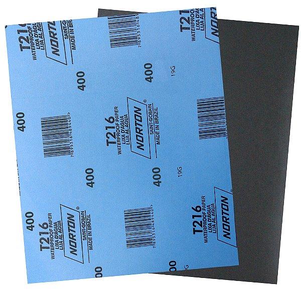 Pacote com 200 Folha de Lixa D'Água Norflex T216 Grão 400 230 x 280 mm