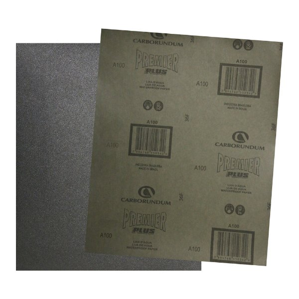Pacote com 200 Folha de Lixa D'água Premier Plus Grão 100 230 x 280 mm