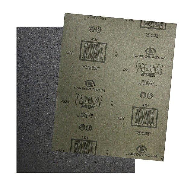 Folha de Lixa D'água Premier Plus Grão 220 230 x 280 mm Pacote com 200