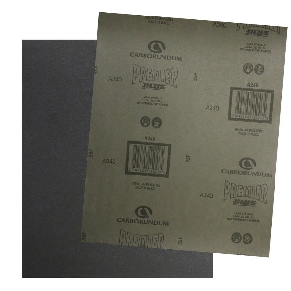 Pacote com 200 Folha de Lixa D'água Premier Plus Grão 240 230 x 280 mm