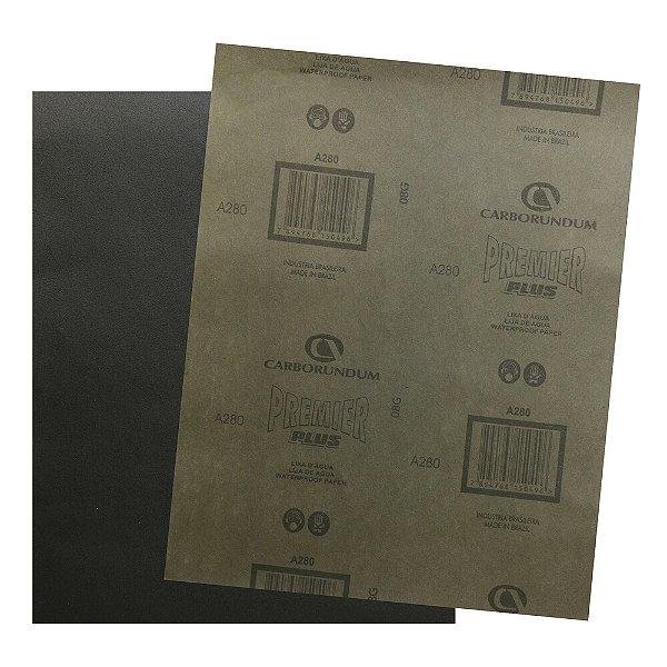 Pacote com 200 Folha de Lixa D'água Premier Plus Grão 280 230 x 280 mm