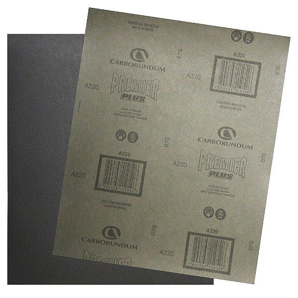 Folha de Lixa D'água Premier Plus Grão 320 230 x 280 mm Pacote com 200
