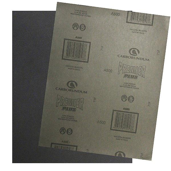 Pacote com 200 Folha de Lixa D'água Premier Plus Grão 500 230 x 280 mm