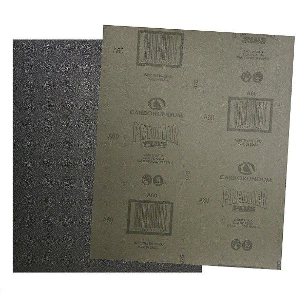 Pacote com 200 Folha de Lixa D'água Premier Plus Grão 60 230 x 280 mm