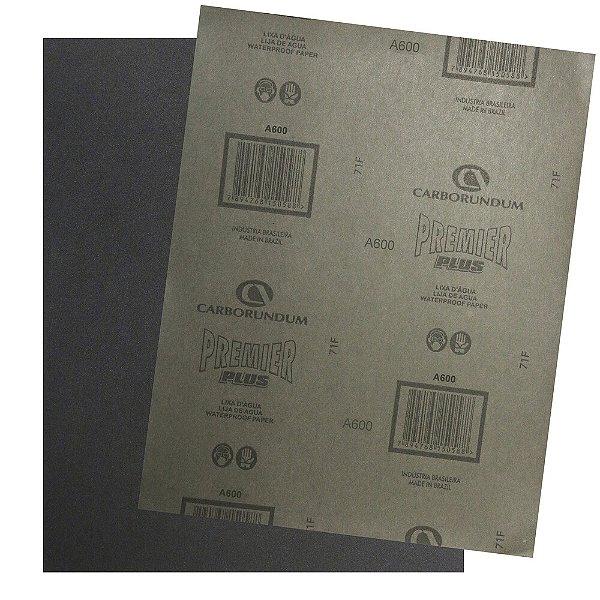 Pacote com 200 Folha de Lixa D'água Premier Plus Grão 600 230 x 280 mm