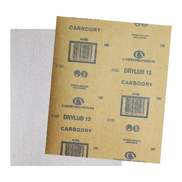 Pacote com 500 Folha de Lixa DryLub CAR12 Grão 180 225 x 275 mm