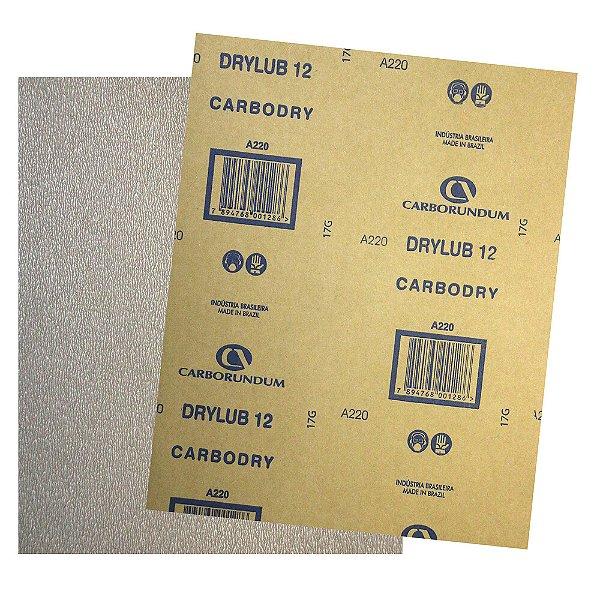 Pacote com 500 Folha de Lixa DryLub CAR12 Grão 220 225 x 275 mm