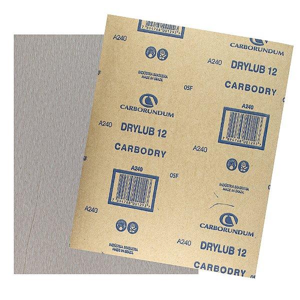 Pacote com 500 Folha de Lixa DryLub CAR12 Grão 240 225 x 275 mm