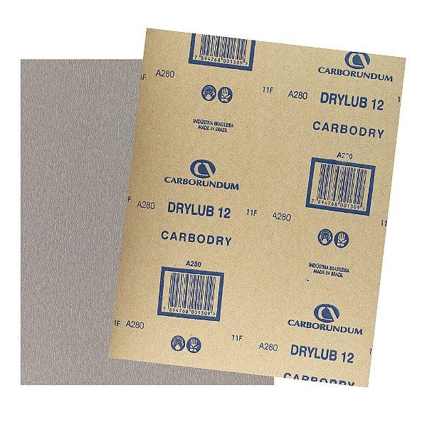 Pacote com 500 Folha de Lixa DryLub CAR12 Grão 280 225 x 275 mm