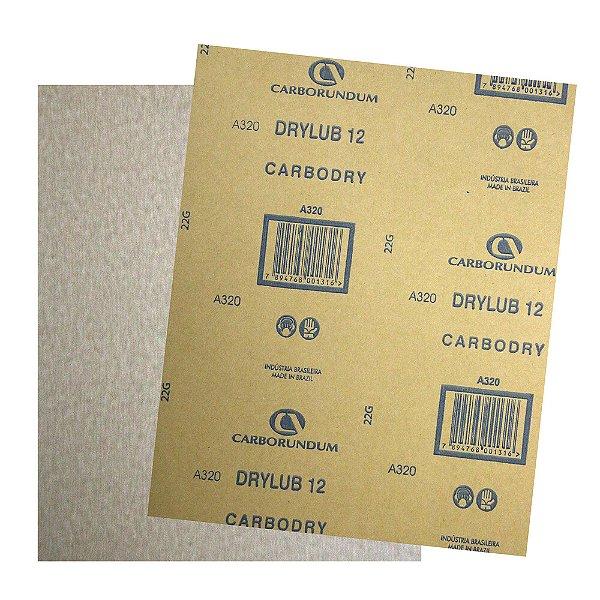 Pacote com 500 Folha de Lixa DryLub CAR12 Grão 320 225 x 275 mm