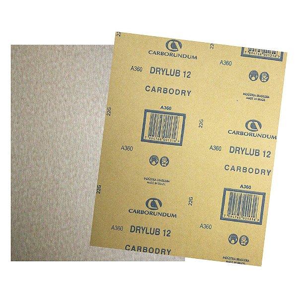 Pacote com 500 Folha de Lixa DryLub CAR12 Grão 360 225 x 275 mm