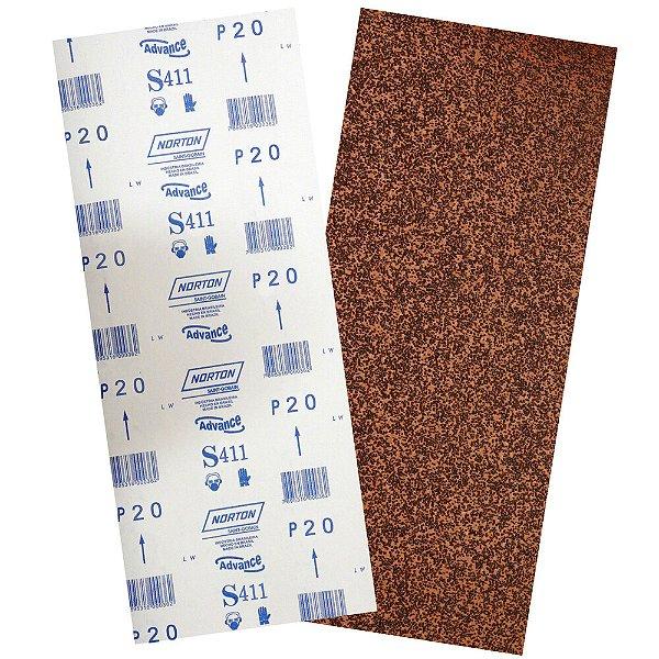 Pacote com 40 Folha de Lixa Durite Assoalho S411 Grão 16 305 x 750 mm