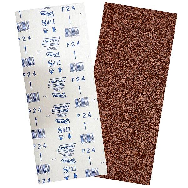 Folha de Lixa Durite Assoalho S411 Grão 24 305 x 750 mm Pacote com 40