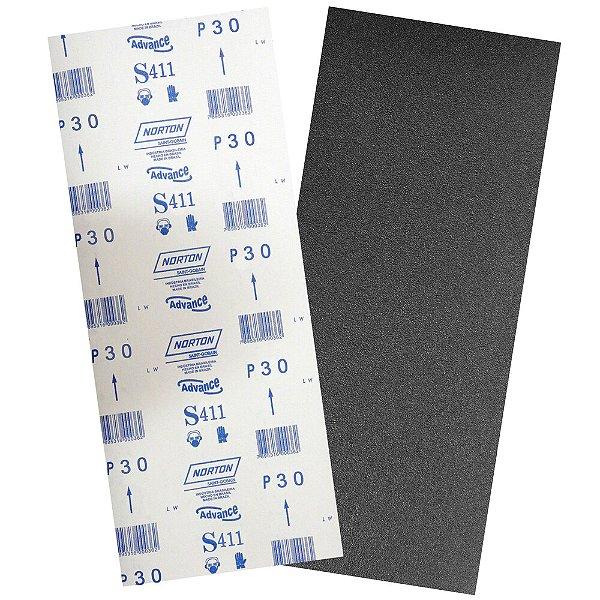 Pacote com 40 Folha de Lixa Durite Assoalho S411 Grão 30 305 x 750 mm