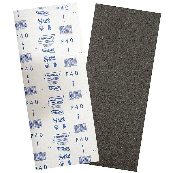 Pacote com 40 Folha de Lixa Durite Assoalho S422 Grão 40 305 x 750 mm