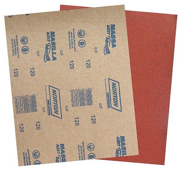 Folha de Lixa Massa Advance A257 Grão 120 225 x 275 mm Pacote com 500