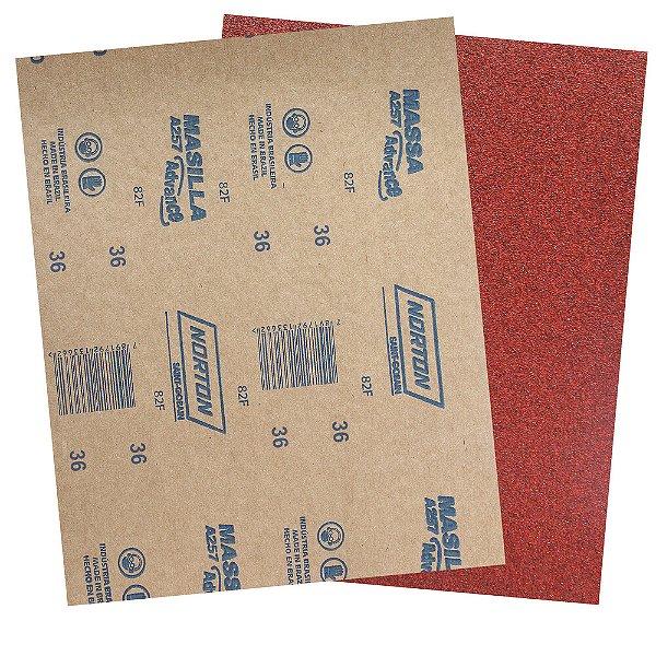 Pacote com 200 Folha de Lixa Massa Advance A257 Grão 36 227 x 275 mm
