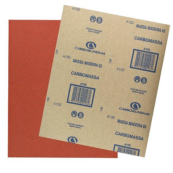 Folha de Lixa Massa e Madeira CAR03 Grão 150 225 x 275 mm Pacote com 500