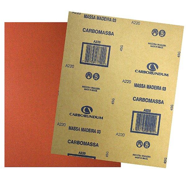Pacote com 500 Folha de Lixa Massa e Madeira CAR03 Grão 220 225 x 275 mm