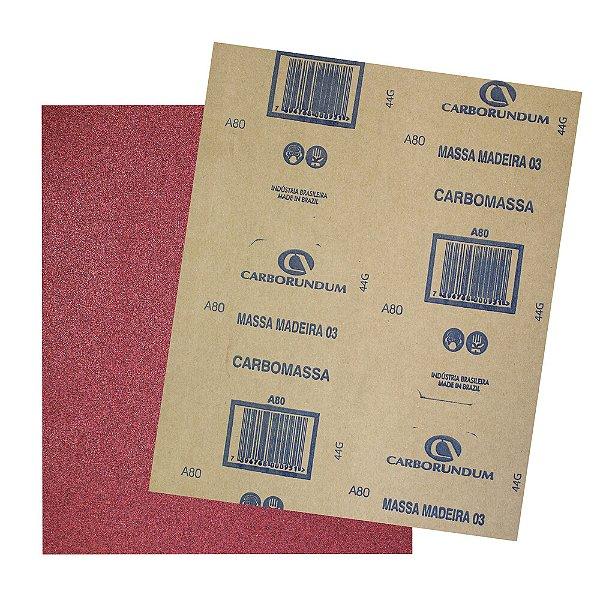 Pacote com 500 Folha de Lixa Massa e Madeira CAR03 Grão 80 225 x 275 mm