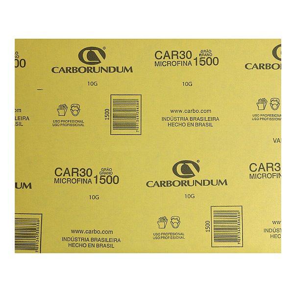 Pacote com 200 Folha de Lixa Microfina CAR30 Grão 1500 230 x 280 mm