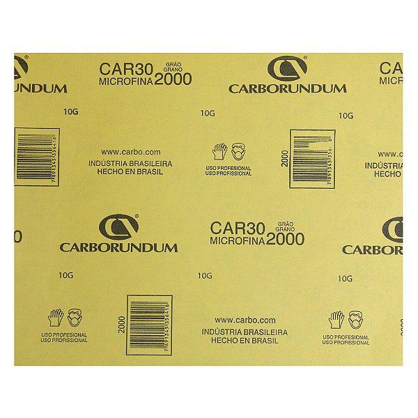 Pacote com 200 Folha de Lixa Microfina CAR30 Grão 2000 230 x 280 mm