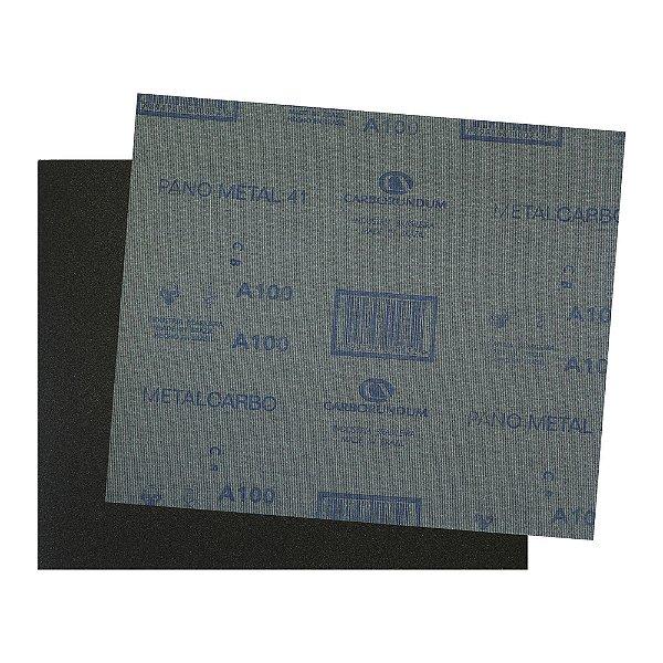 Pacote com 200 Folha de Lixa Pano Metal CAR41 Grão 100 225 x 275 mm