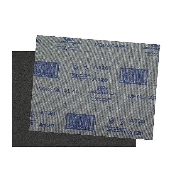 Pacote com 200 Folha de Lixa Pano Metal CAR41 Grão 120 225 x 275 mm