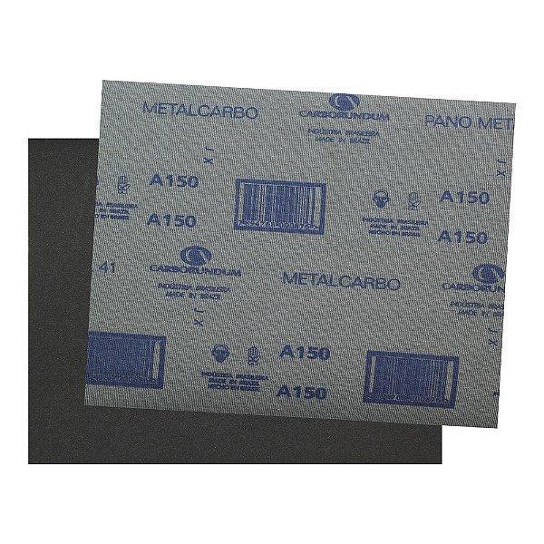 Pacote com 200 Folha de Lixa Pano Metal CAR41 Grão 150 225 x 275 mm