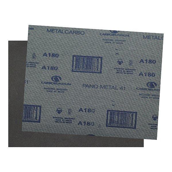 Pacote com 200 Folha de Lixa Pano Metal CAR41 Grão 180 225 x 275 mm