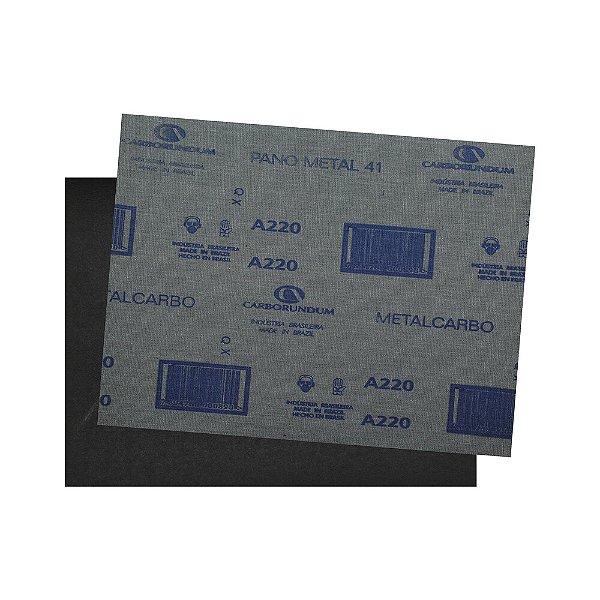 Pacote com 200 Folha de Lixa Pano Metal CAR41 Grão 220 225 x 275 mm