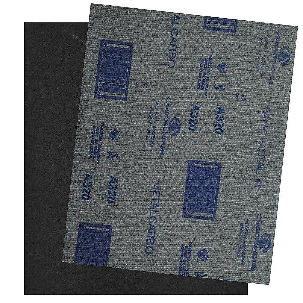 Folha de Lixa Pano Metal CAR41 Grão 320 225 x 275 mm Pacote com 200