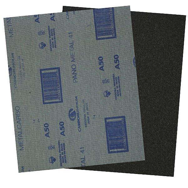 Pacote com 200 Folha de Lixa Pano Metal CAR41 Grão 50 225 x 275 mm