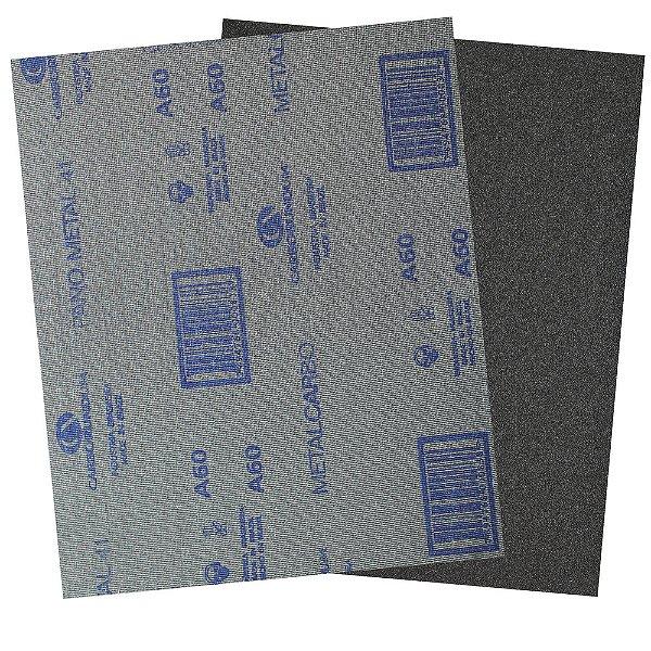 Pacote com 200 Folha de Lixa Pano Metal CAR41 Grão 60 225 x 275 mm