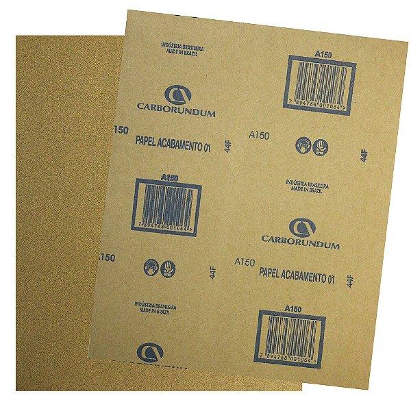 Pacote com 500 Folha de Lixa Papel Acabamento CAR01 Grão 150 225 x 275 mm