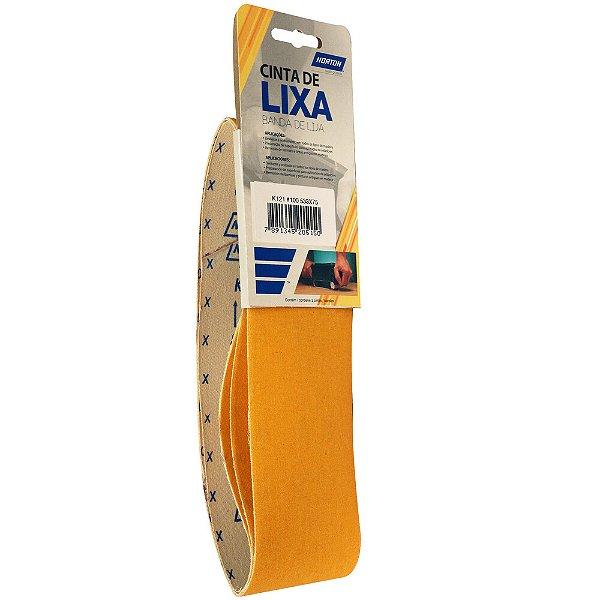 Caixa com 10 Kit Cinta de Lixa Estreita K121 Adalox Pano Grão 100 533 x 75 mm