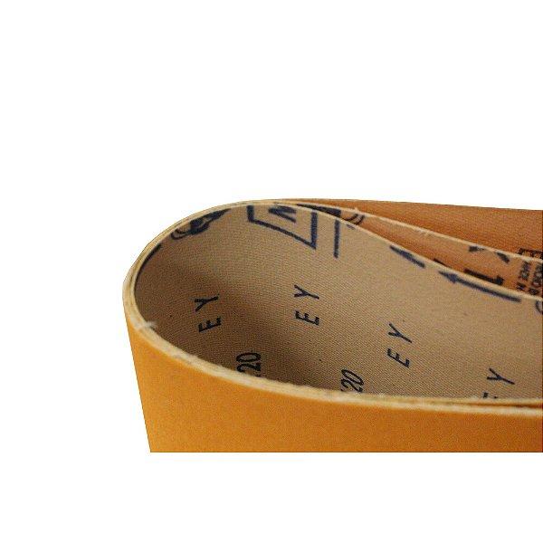 Kit Cinta de Lixa Estreita K121 Adalox Pano Grão 120 533 x 75 mm Caixa com 10