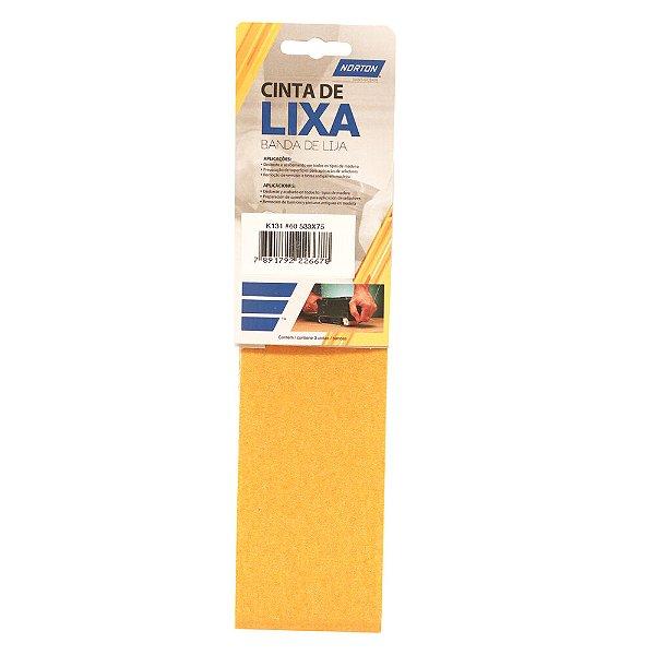 Caixa com 10 Kit Cinta de Lixa Estreita K131 Adalox Pano Grão 60 533 x 75 mm