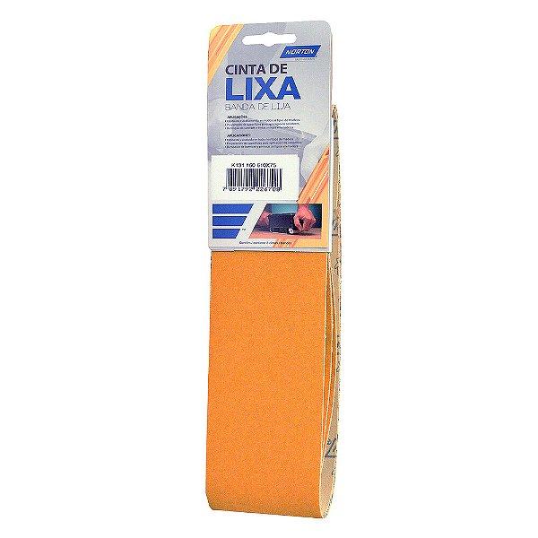 Caixa com 10 Kit Cinta de Lixa Estreita K131 Adalox Pano Grão 60 610 x 75 mm