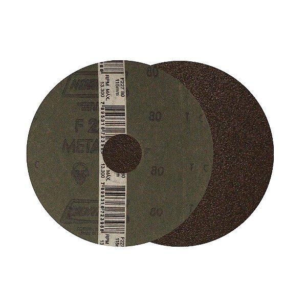 Caixa com 10 Kit Disco de Lixa F224 Grão36/80/120 3 Pçs 115 mm