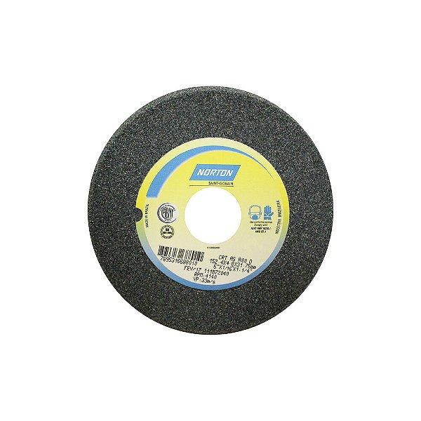Caixa com 5 Rebolo Afiação de Serras Óxido de Alumínio Cinza Chanfrado 152,40 x 4,80 x 31,75 mm A80OVC1