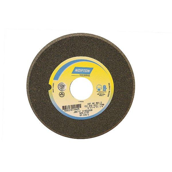 Caixa com 5 Rebolo Afiação de Serras Óxido de Alumínio Cinza Chanfrado 152,40 x 6,40 x 31,75 mm A80OVC1