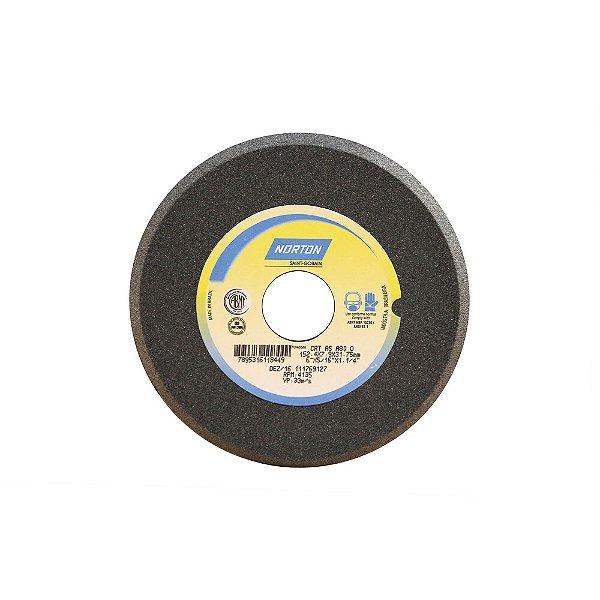 Caixa com 5 Rebolo Afiação de Serras Óxido de Alumínio Cinza Chanfrado 152,40 x 7,90 x 31,75 mm A80OVC1