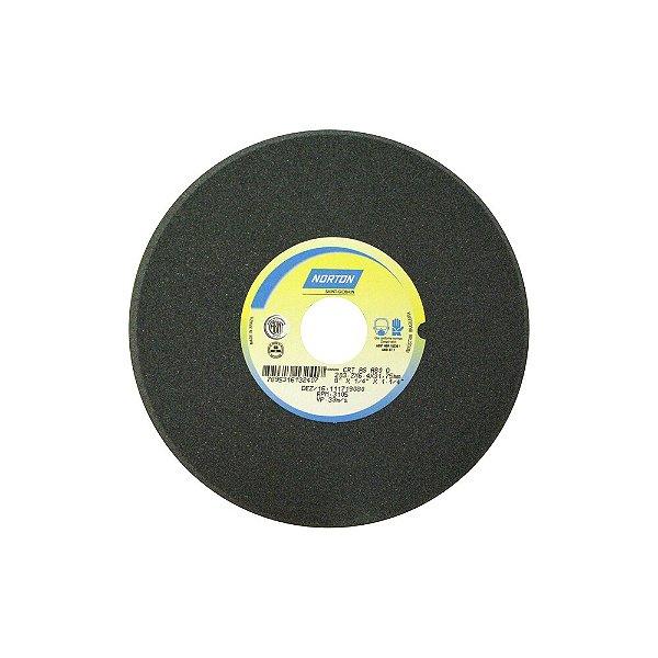 Caixa com 5 Rebolo Afiação de Serras Óxido de Alumínio Cinza Chanfrado 203,20 x 6,40 x 31,75 mm A80OVC1